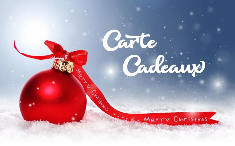 Carte cadeaux de Noël
